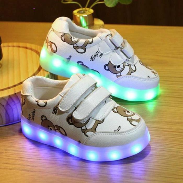 En Enfants Pour Sneakers Rougeoyant Chaussures Panier De Charge Âge Filles Lumineux Bas USB Led Enfants qaTRvAA