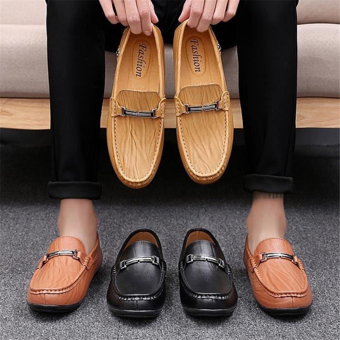 Confortable Noir Chaussures Xmm Ete rouge Respirant Nouveau De Plus Moccasin Couleur Hommes jaune Moccasins nqXRPX4