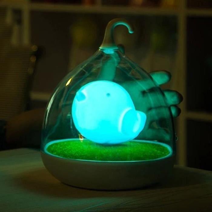 Jouet Veilleuse Rechargeable Lumière Smart Aventure Bleu Camping Usb Nocturnal Inductive Birdcage Saving Enfants Lampe Led pqpfOwB