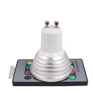 ampoule led couleur telecommande gu10 achat vente ampoule led couleur telecommande gu10 pas. Black Bedroom Furniture Sets. Home Design Ideas