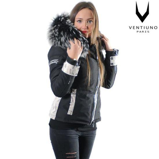 Ventiuno Veste Sofia Python à GROSSE fourrure 13cm de renard véritable  silver et cuir python - doudoune ventiuno, fourrure, veste, d Noir noir -  Achat ... a341c36408e2