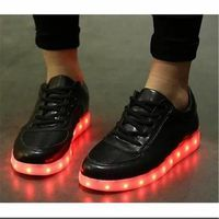 Chaussures Montante Femme Homme Led Usb Rechargeable 7 Couleurs Chaussure Led Clignantes Unisexe Baskets Lumineuse