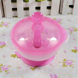 COUVERTS BÉBÉ Rose Ensemble cuillère pour bébé et bowl Ustensile