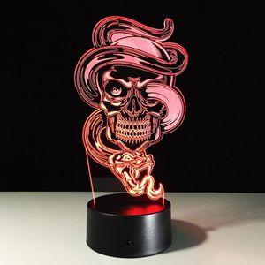 OBJETS LUMINEUX DÉCO  3D Nuit Lumière Lampe Acrylique Coloré Fantôme Spe