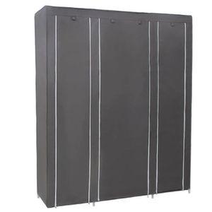 PENDERIE SOUPLE Armoires penderie tissu meuble de rangement gris 1