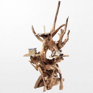 OBJET DÉCORATIF Sculpture en bois moderne alliant esthétisme et ut