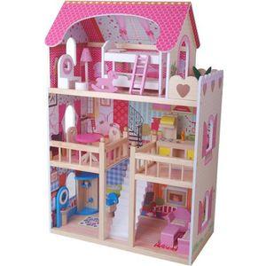 MAISON POUPÉE  maison de poupée Villa résidentielle  en bois  av