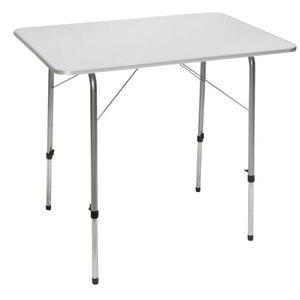TABLE DE CAMPING Camp Gear Table de camping pliable Blanc Acier