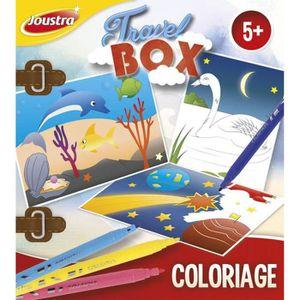 JEU DE COLORIAGE - DESSIN - POCHOIR JOUSTRA Travel Box Coloriage