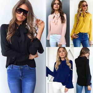 Les femmes Blouses 2017 d été en mousseline de soie Blouse Chemises ... f051f251271e
