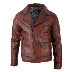 Veste Homme Marque Luxe Parka D'hiver Moto Casual Blouson Cuir B4SXqaa