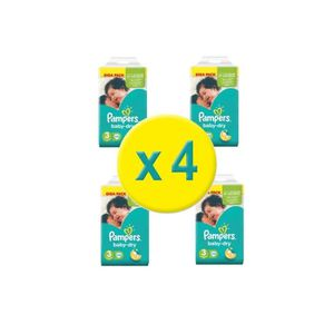 COUCHE Pampers taille 3: 544 couches baby dry giga pack (