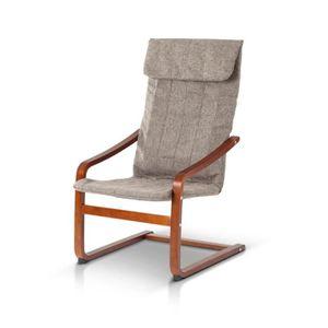 chaise longue ikayaa chaise longue en bois capacit de charge ma - Transat Bois Pas Cher