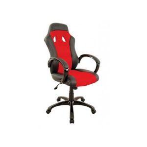 Fauteuil bureau rouge et noir Achat Vente Fauteuil bureau