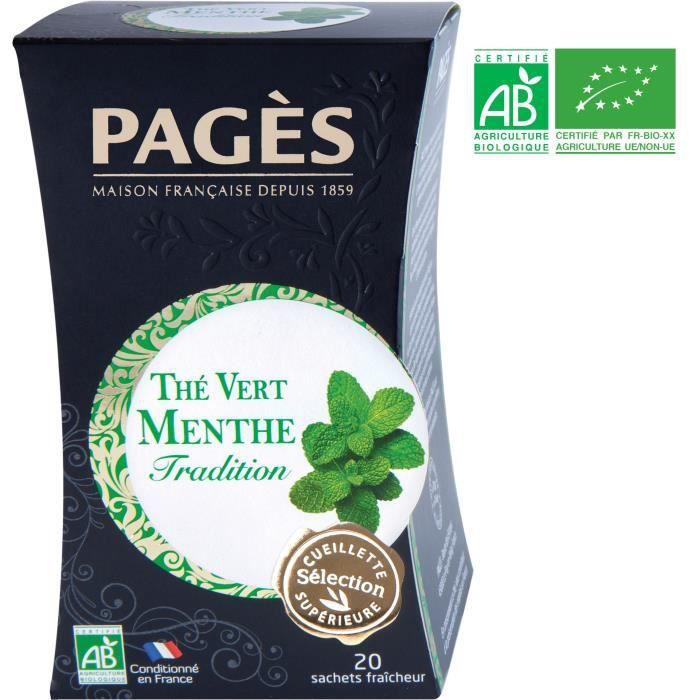 PAGES Thé Vert Menthe - Bio