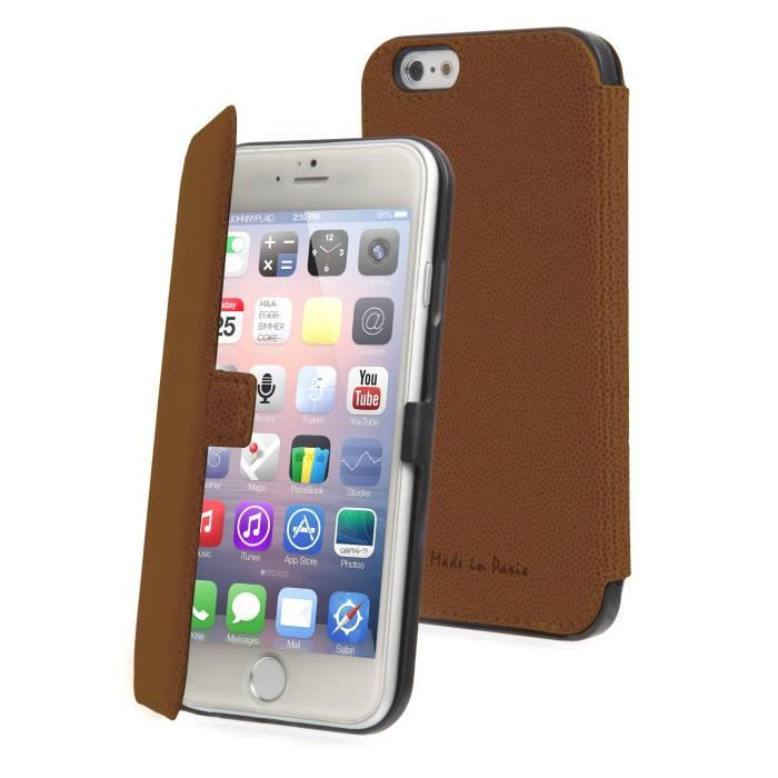 MUVIT Etui Slim Folio - Iphone 6 / 6s - Marron