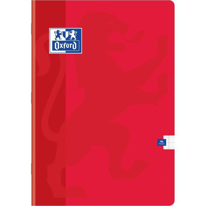 OXFORD Cahiers Color Life A4 Seyes - Rouge