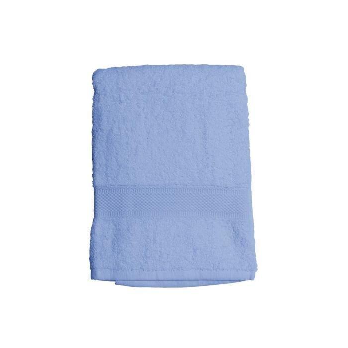 SOLEIL D'OCRE Drap de bain 100% Coton DOUCEUR 70x130 cm - Bleu