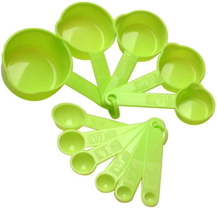 Nouveau 5Pcs couleur plastique cuillères set de cuisson cuisine kit cuisine