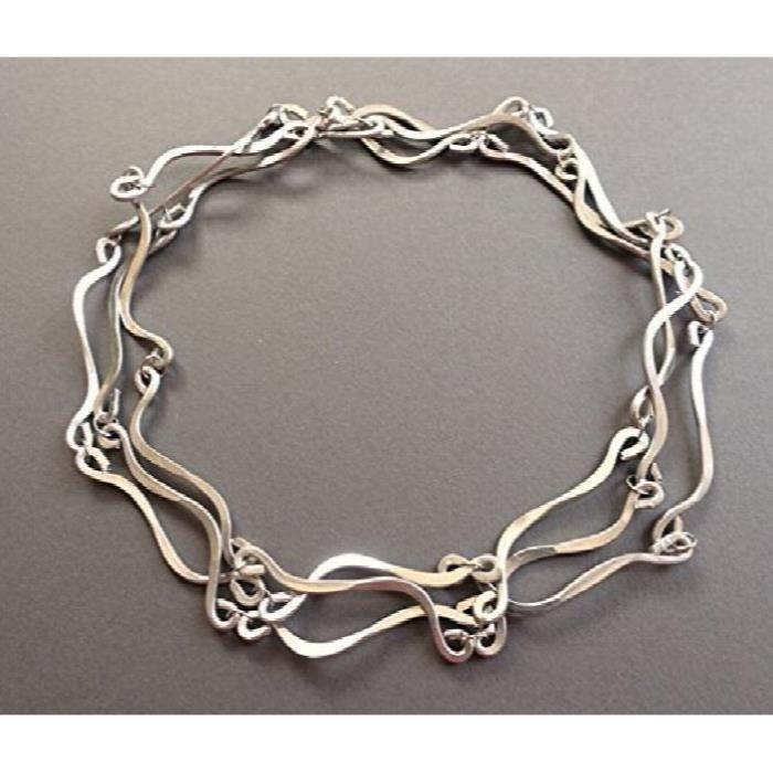 Craze main chute grenat collier pendentif de perles avec les résultats en argent sterling 16  AJHH7