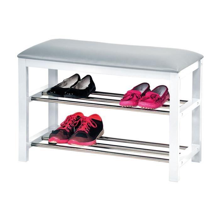 banc chaussures avec coussin pour l 39 entr e meuble de rangement achat vente meuble. Black Bedroom Furniture Sets. Home Design Ideas