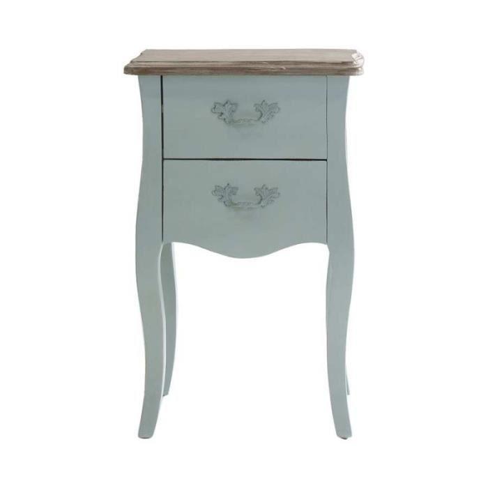 chevet table de chevet romantique 2 tiroirs galb en bois