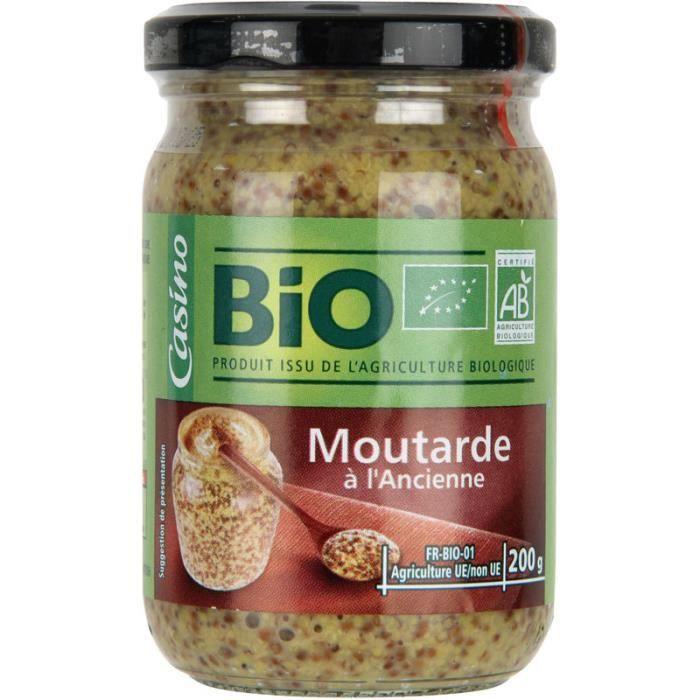 MOUTARDE Moutarde à l'ancienne - Bio - 200g