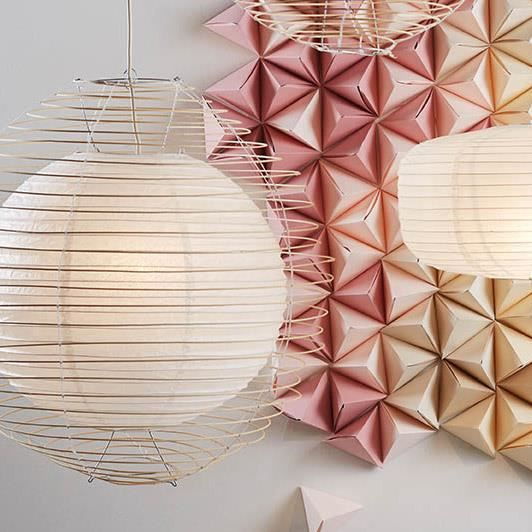 suspension papier achat vente suspension papier pas cher cdiscount. Black Bedroom Furniture Sets. Home Design Ideas