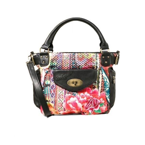 Sac à main porté épaule Desigual Mcbee Casilda - Femme - Imprimé fleuri - Rose 67X51B8