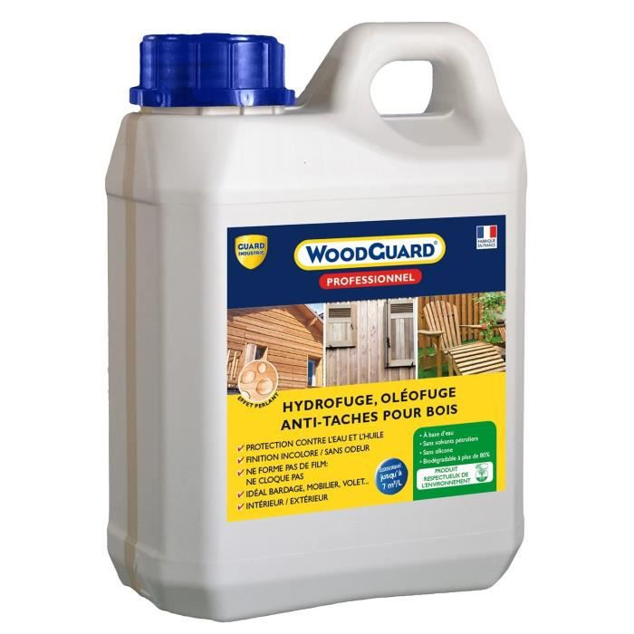 Intachable Movie imperméabilisant bois anti tache - woodguard pro 2l - achat / vente