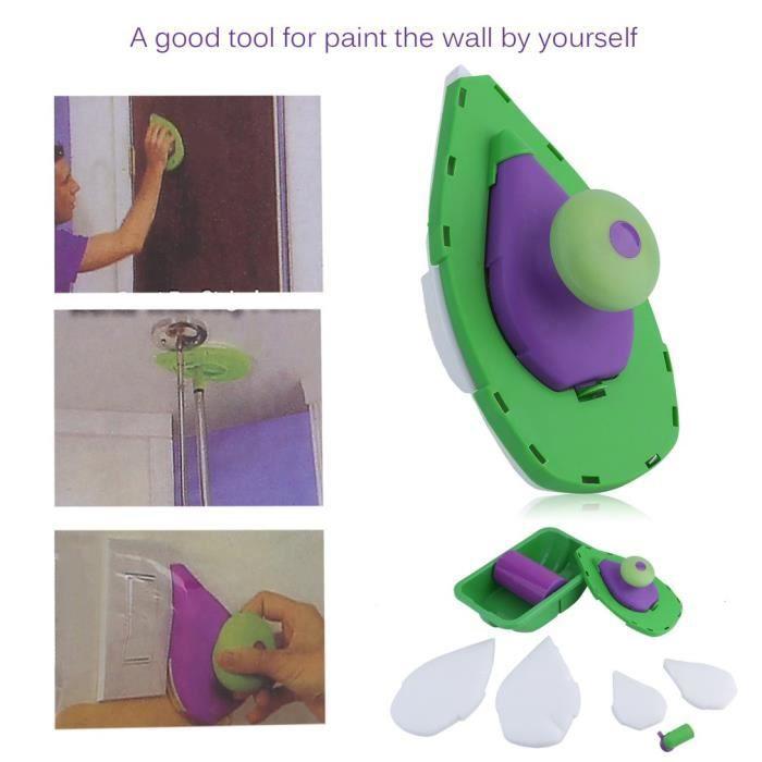 LESHP Kit de Rouleau de Peinture vert et violet - Achat / Vente ...