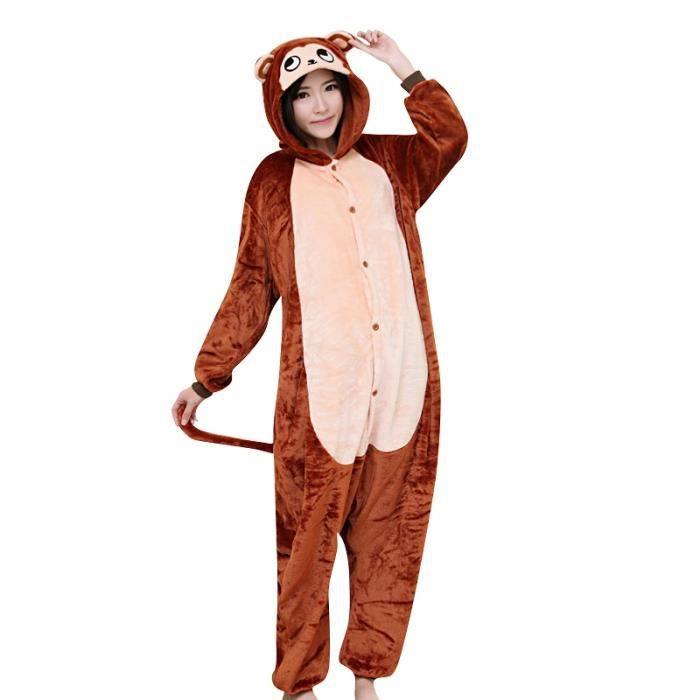 Femme Automne Pour Adultes Homme Et Pyjama Animé D'hiver Kigurumi Halloween Cosplay Robe Singe Adolescente Noel Mignon Flanelle Zx8XqwPCC