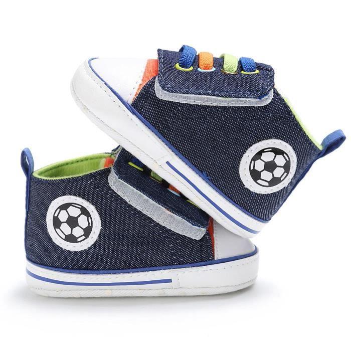 BOTTE Chaussures bébé garçon fille nouveau-né crèche chaussures à semelle souple@Gris foncé oCraa