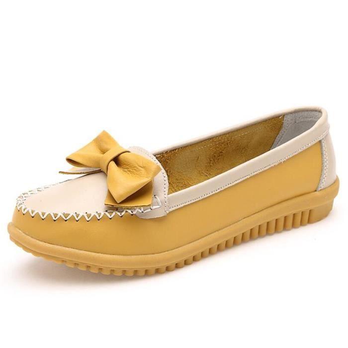 Moccasins Femmes Antidérapant Poids Léger Moccasin Durable nouvelle marque de luxe chaussure cuir Grande Taille