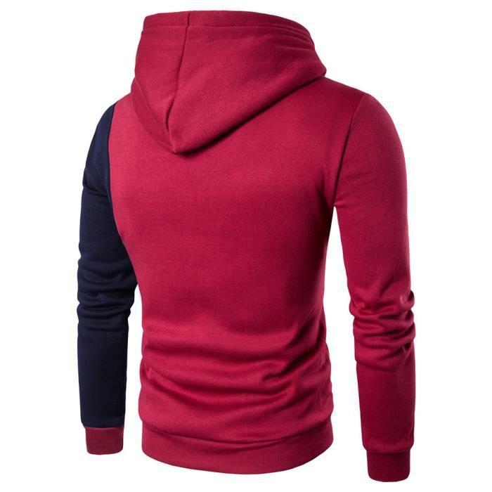 Chemise décontractée à capuche en coton à manches longues pour hommes T-shirts à capuche