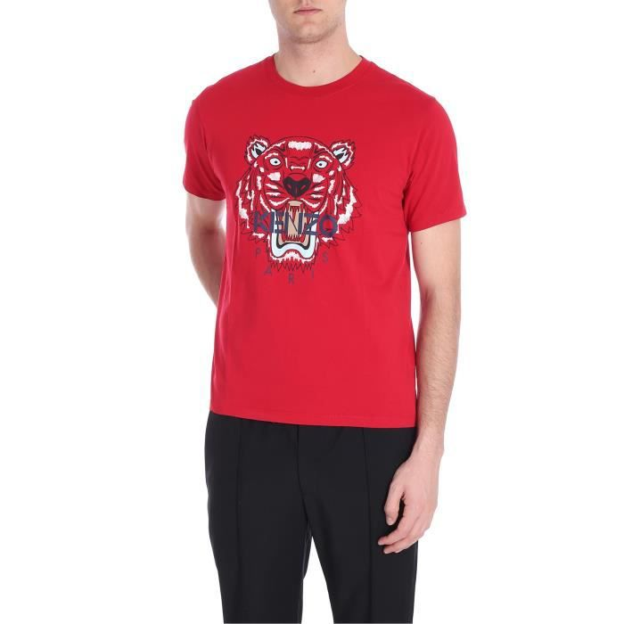 ed35a27fc1f KENZO HOMME F865TS0504YA21 ROUGE COTON T-SHIRT Rouge Rouge - Achat ...