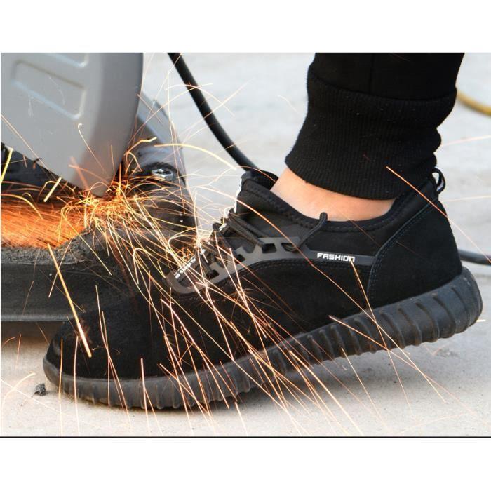 super populaire faa76 99371 Chaussures de Sécurité Homme Professionnelles Baskets Outdoorhomme  Protection Léger Basket Chaussures de Travail Unisexes Plat