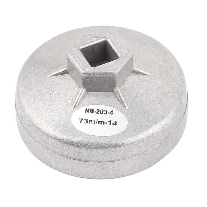 FILTRE A HUILE Voiture automatique 73mm Diamètre intérieur Douille 14Flûtes Outil cléà filtre à huile