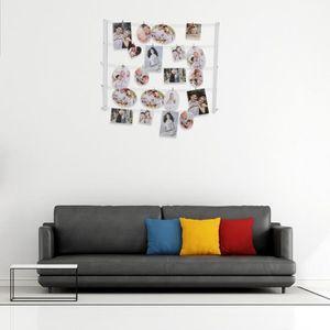 cadre photo pele mele avec pince achat vente pas cher. Black Bedroom Furniture Sets. Home Design Ideas