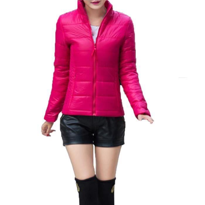 Vif Base Manteau Femme Femmes Vestes Veste Mode Décontractées De Doudoune Automne Hiver rose 67qavqw