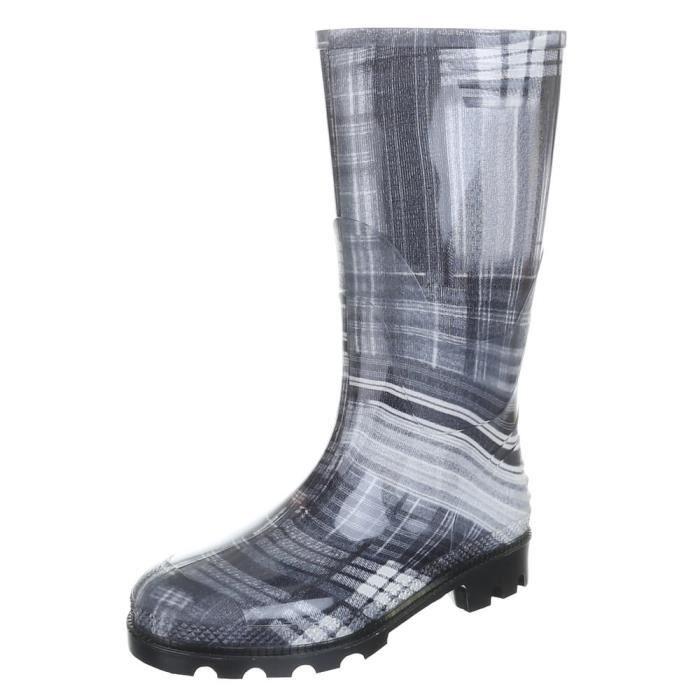 Femme chaussures botte chaussures de pluie caoutchouc gris blanc 41 ZMoaWwPDsB