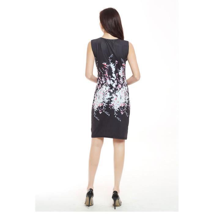 dimpression mode Dress mince sexy classique Robe manches confortable Mme vêtements été tricot sans Robe wZqgn5xXf