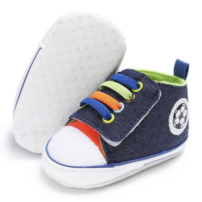BOTTE Chaussures bébé garçon fille nouveau-né crèche chaussures à semelle souple@Bleu foncé MsfBaIW9v