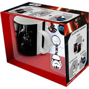 STAR WARS Pack Cadeau Mug Troop-Vador + Porte-clés Trooper + Badges