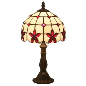 LAMPE A POSER FABAKIRA 8 Pouces Tiffany Lampes de Table de Cheve