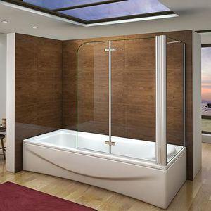 PORTE DE BAIGNOIRE Pare baignoire 100X140cm, paroi de douche fixe 70x