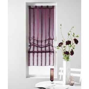 voilage violet achat vente voilage violet pas cher cdiscount. Black Bedroom Furniture Sets. Home Design Ideas