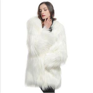 8b75660c3f5e9 MANTEAU - CABAN Manteau épais en fausse fourrure pour femme en lai ...