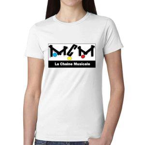 Débardeur Femme Unique Personnalisé Coton T shirt Mcm Tv Log