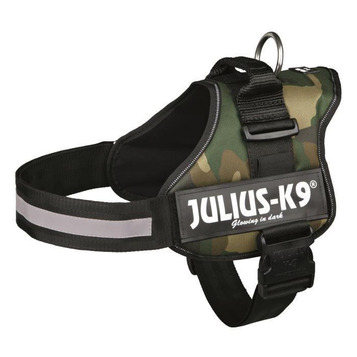 Harnais Power Julius-K9 - 2 - L-XL : 71-96 cm-50 mm - Camouflage - Pour chien